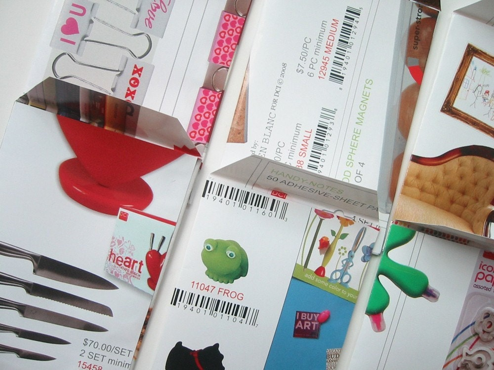 Repurposed Catalog Page Seed Packets-One Dozen Random Assortment