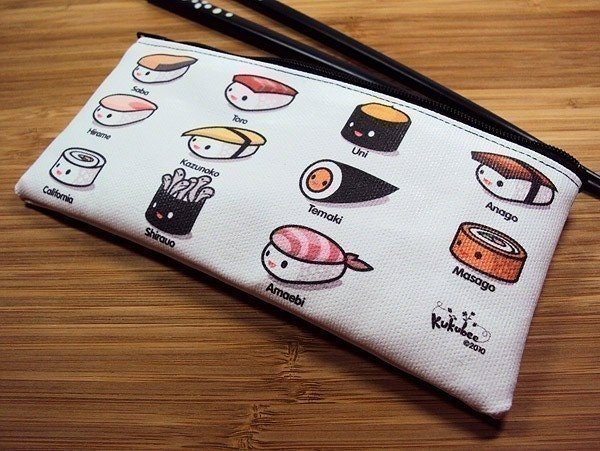 Sushi Lovers Zipper Pouch