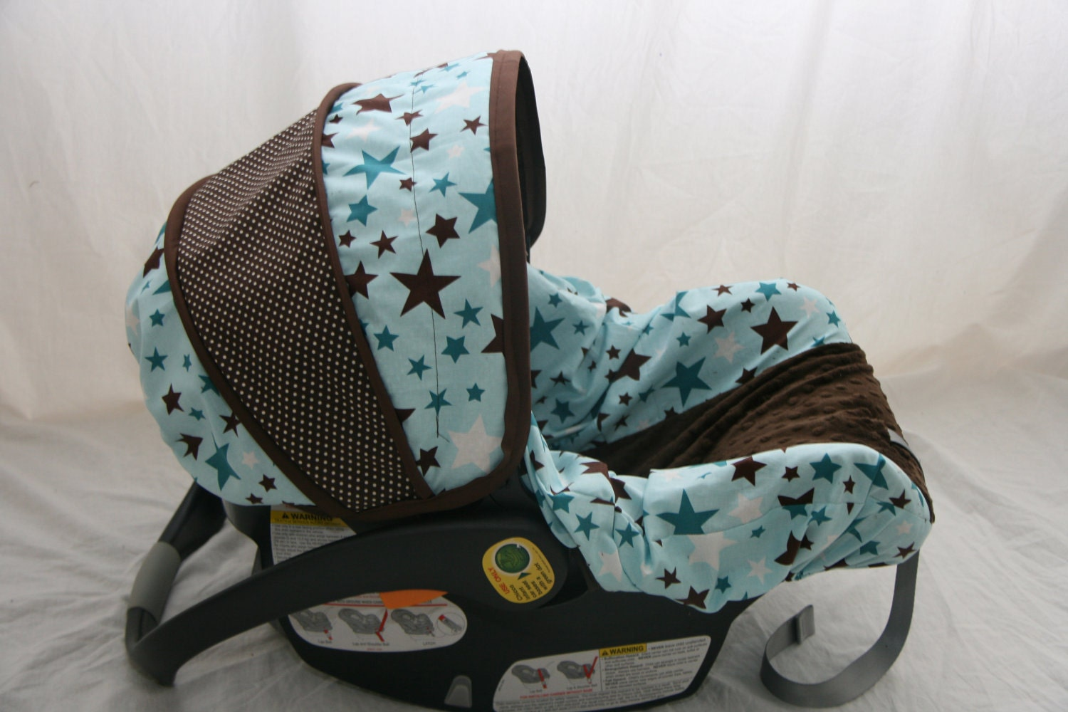 Last One Baby Boy Stars Car Seat Cover Blue And By
