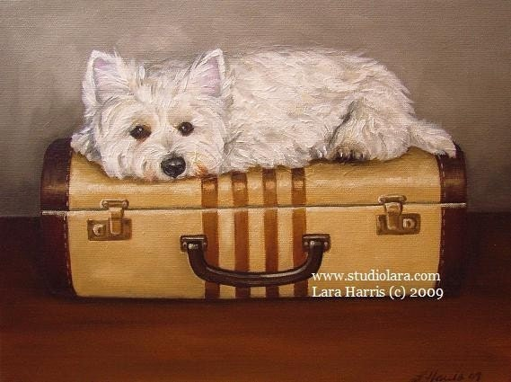 8x10 Don't U  4Get About Me...Westie West Highland Terrier Fine Art Giclee Print by  LARA