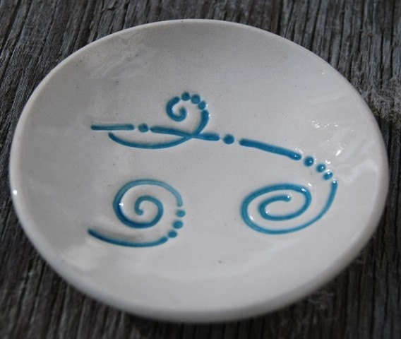 Lil Dish - Blue swirls