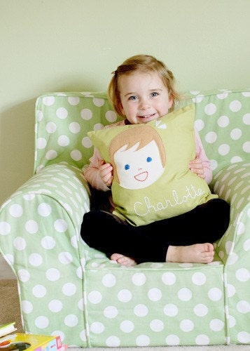 Personalized Pillow - Girl or Boy - Pillow Cover ONLY