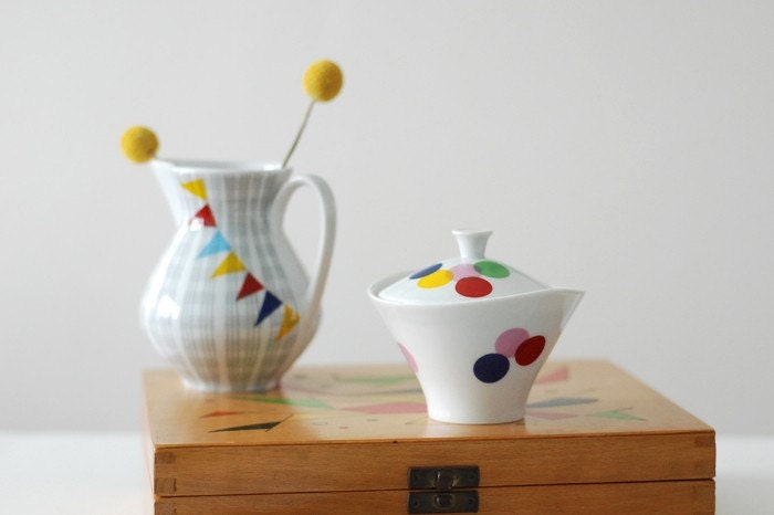 Lots of dots sugar bowl