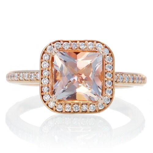 items similar to gold princess morganite engagement