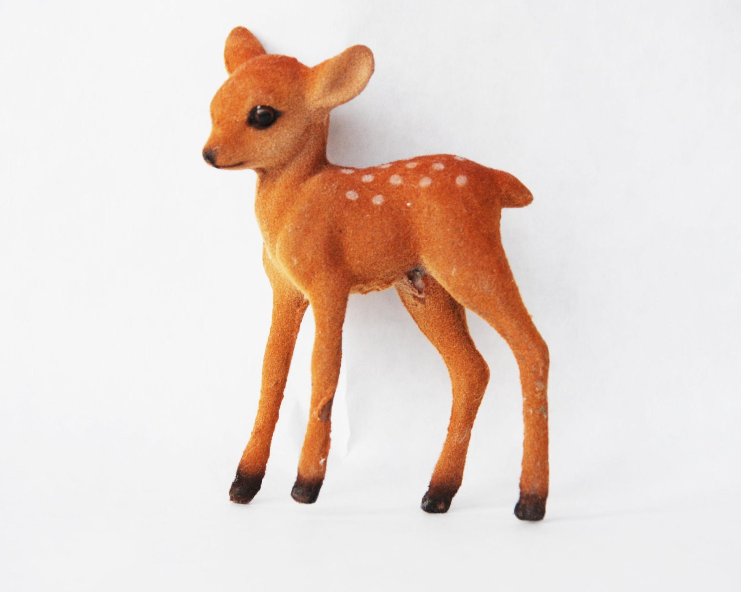 Vintage Felt Fawn Deer Toy Velvet Home Decor By Aemontague