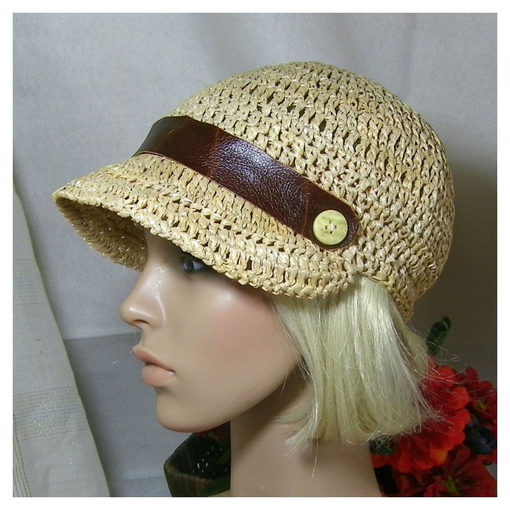 Crushable Crochet Raffia Hat