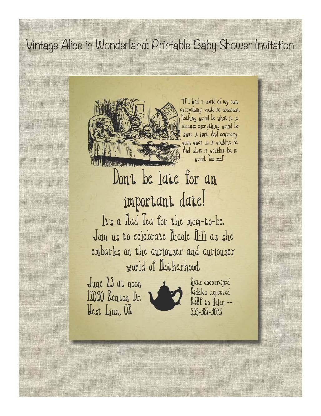 alice in wonderland pdf script songs