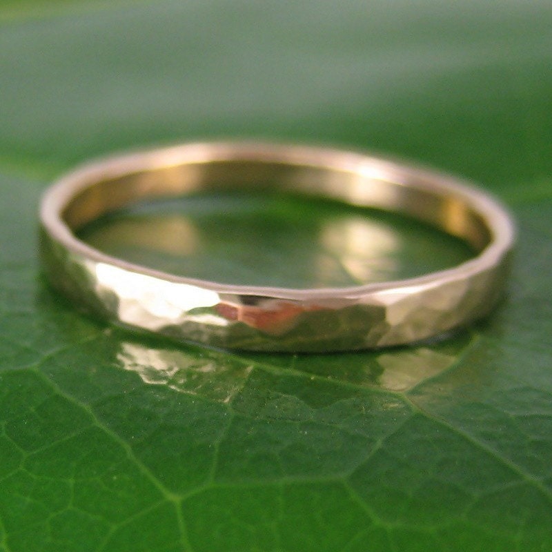 A Single Rose, Hand Forged 14K Rose Gold Ring