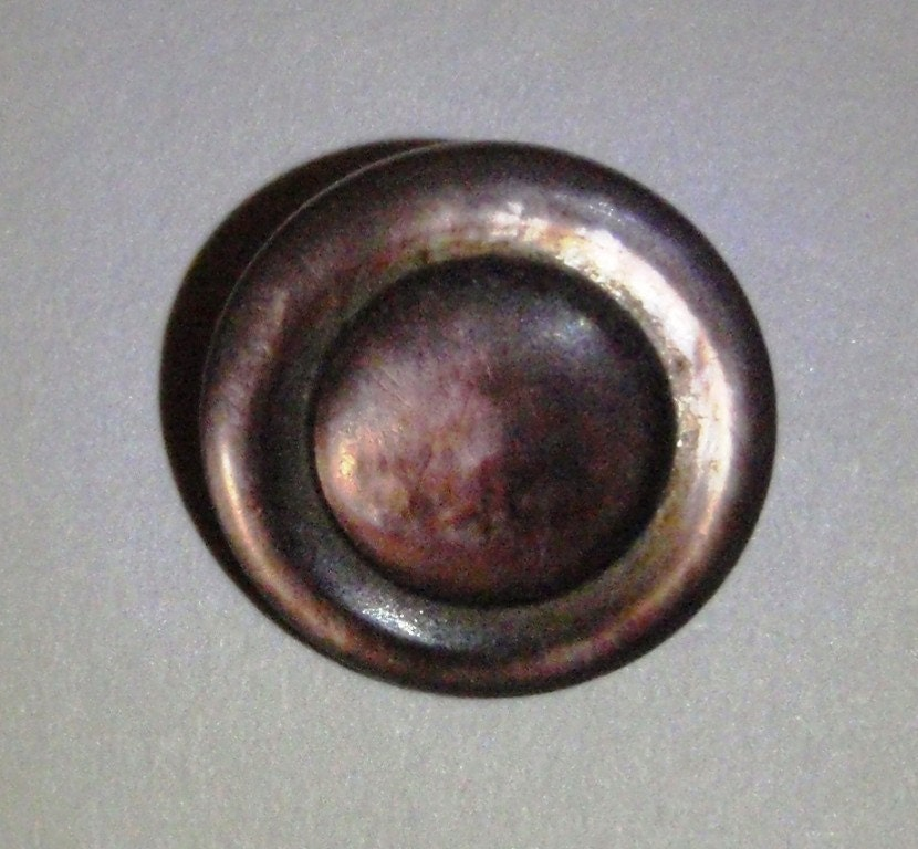 Antique Button Iridescent Brown Mother of Pearl 1/2 Inch