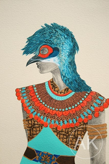 Bornean Peacock Pheasant, Original acrylic art painting