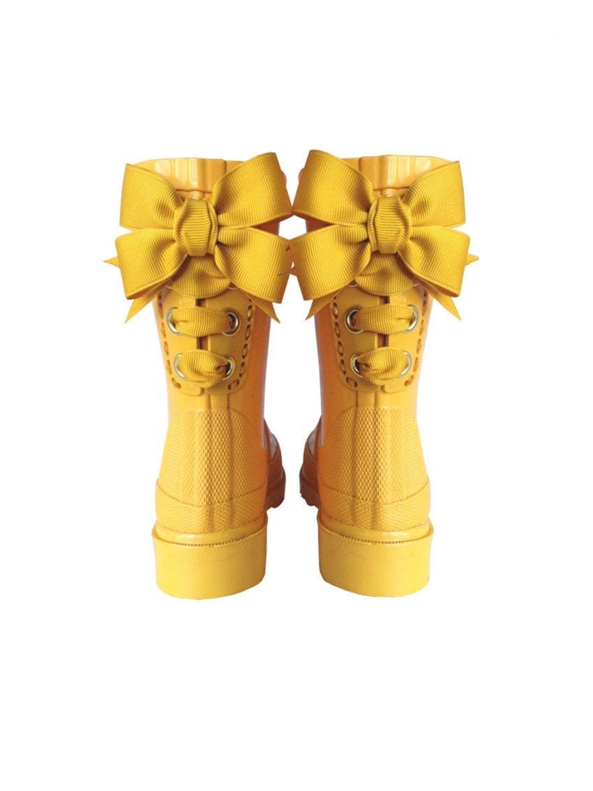 Timber & Tamber Rain Boots Rubber Gumboots Yellow - TimberAndTamberBoots