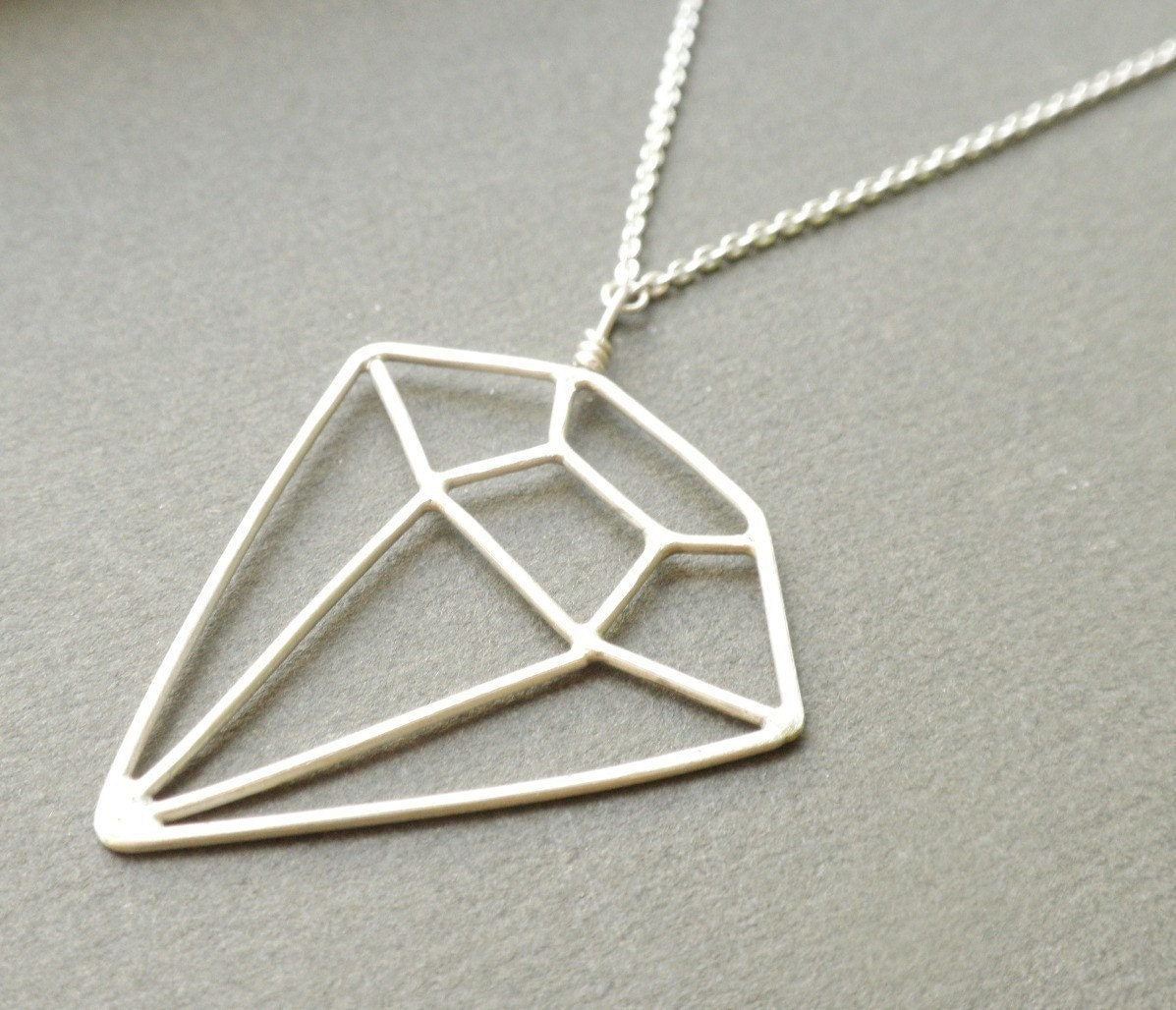 Clever Diamond Necklace by JeanieAndronyk on Etsy from etsy.com