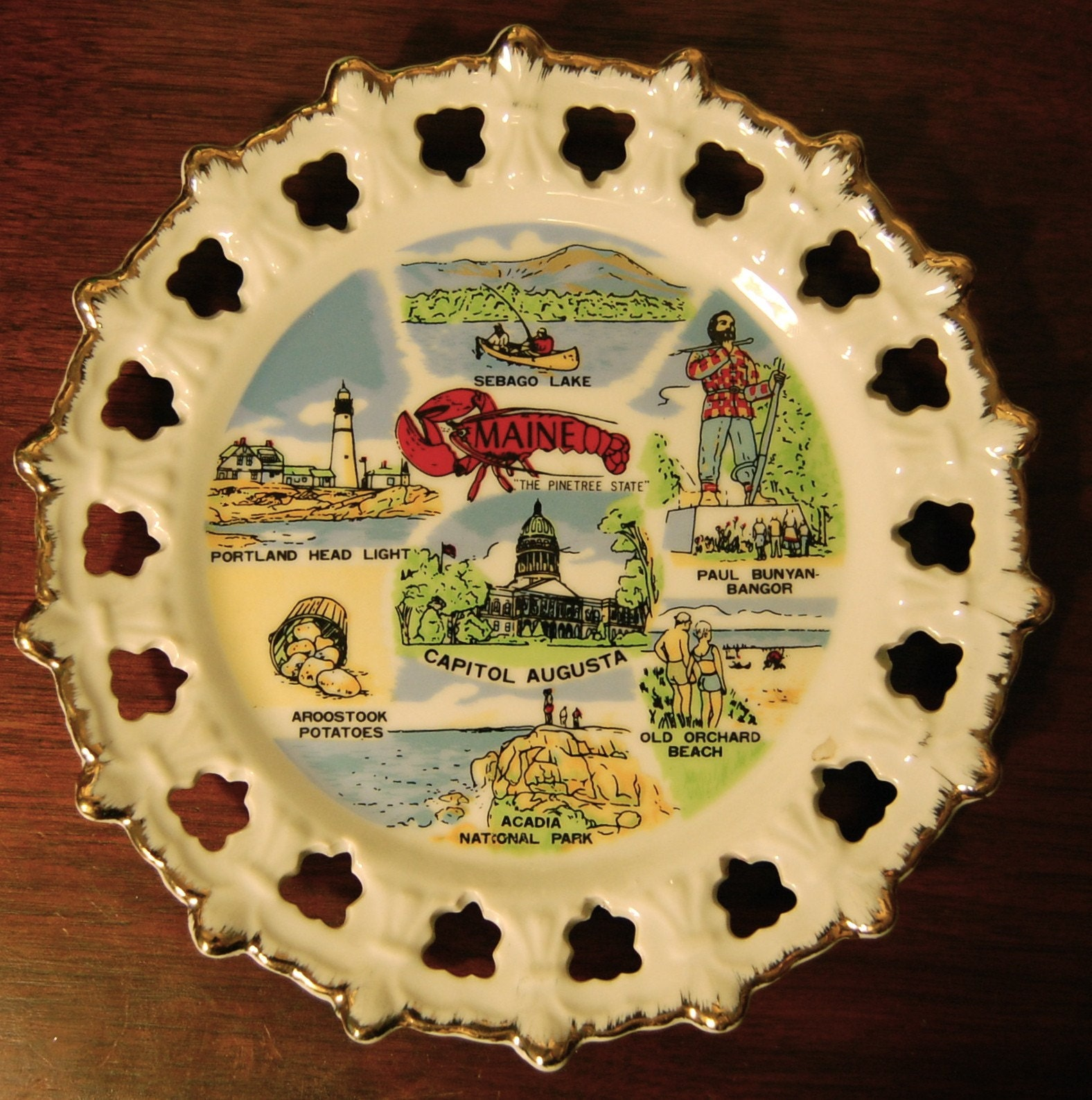 Vintage PORTLAND Maine Souvenir Decorative Plate SALE