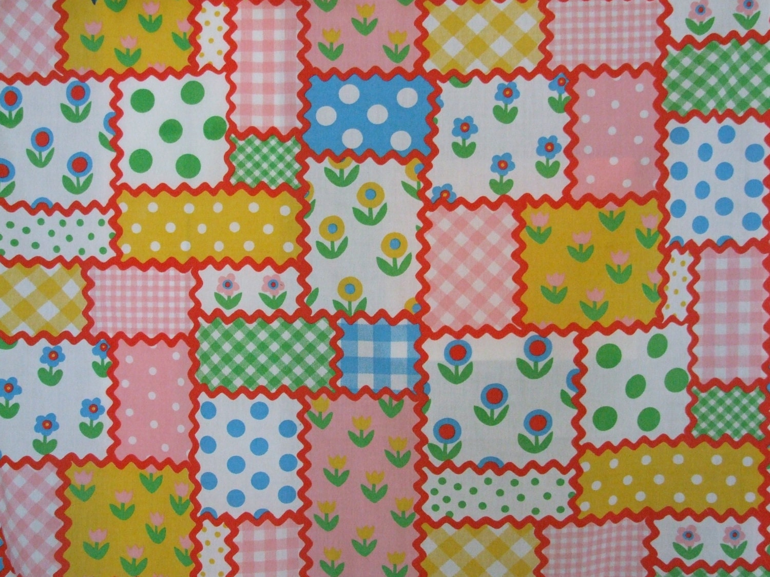 Vintage sheet (1 yard) - patchwork candy land
