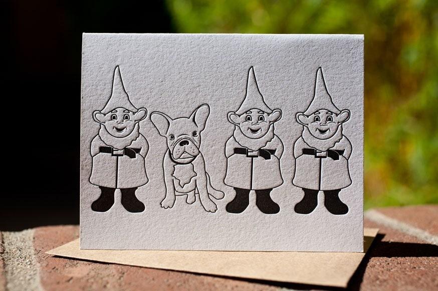 French Bulldog and Gnomes