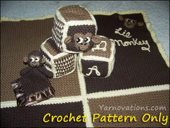 Items similar to Lil Monkey Baby Blanket, Security Blanket ...