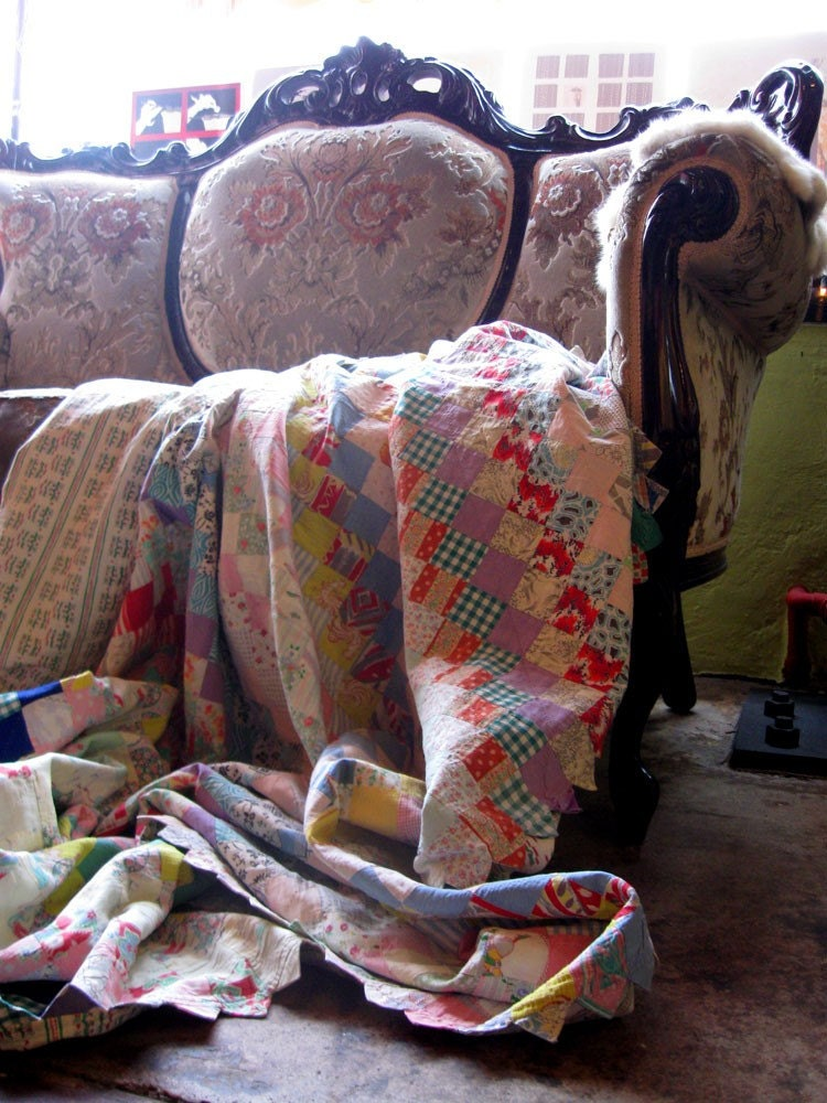 UP AT PRAIRIE POINT Feedsack Quilt by Country Laundry