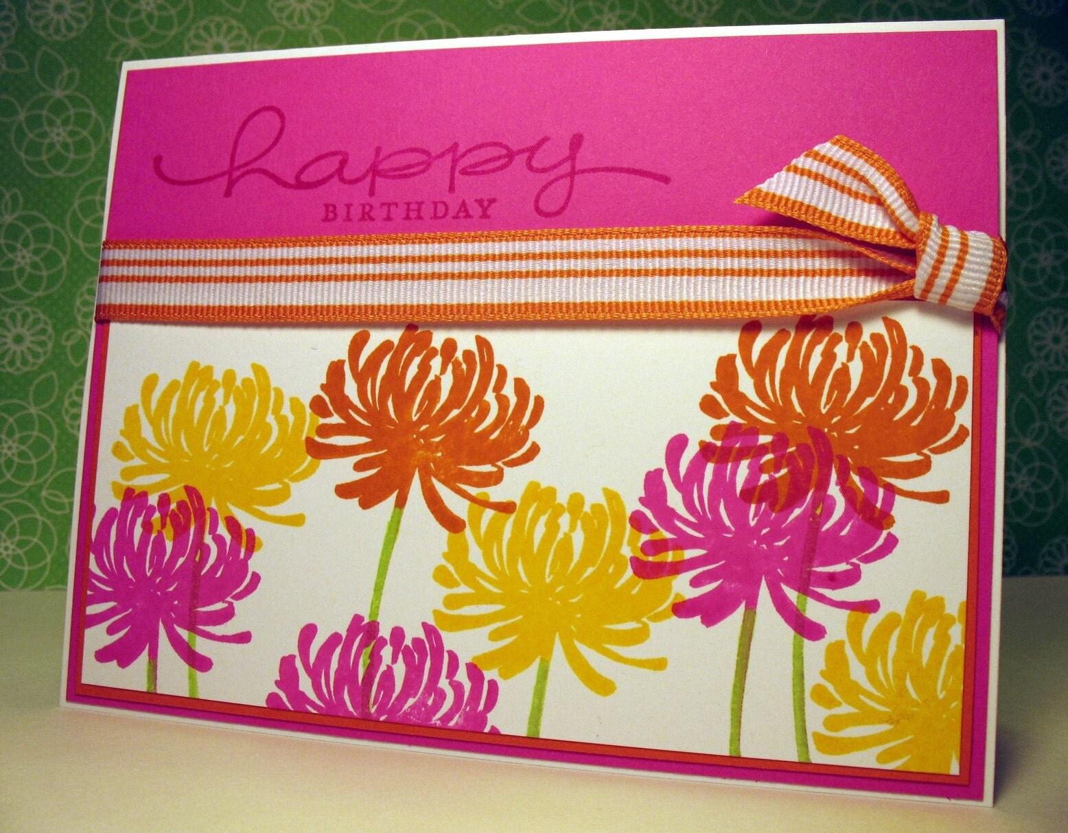 EtsyGreetings Handmade Cards August 2010 – Birthday Greeting Card for Teacher