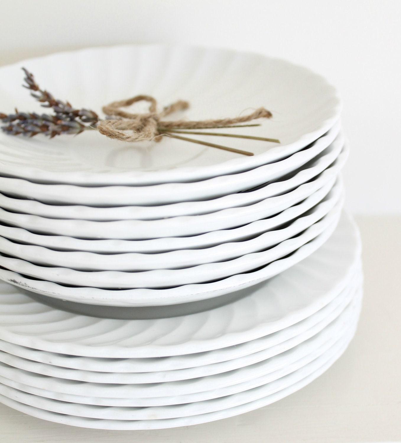 Scalloped English Ironstone Dishes