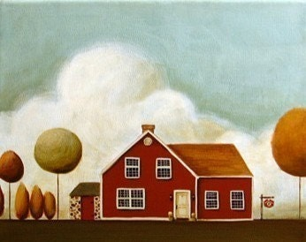 CUSTOM House Painting - Custom 8 by 10 painting of your house or someone elses house as a gift