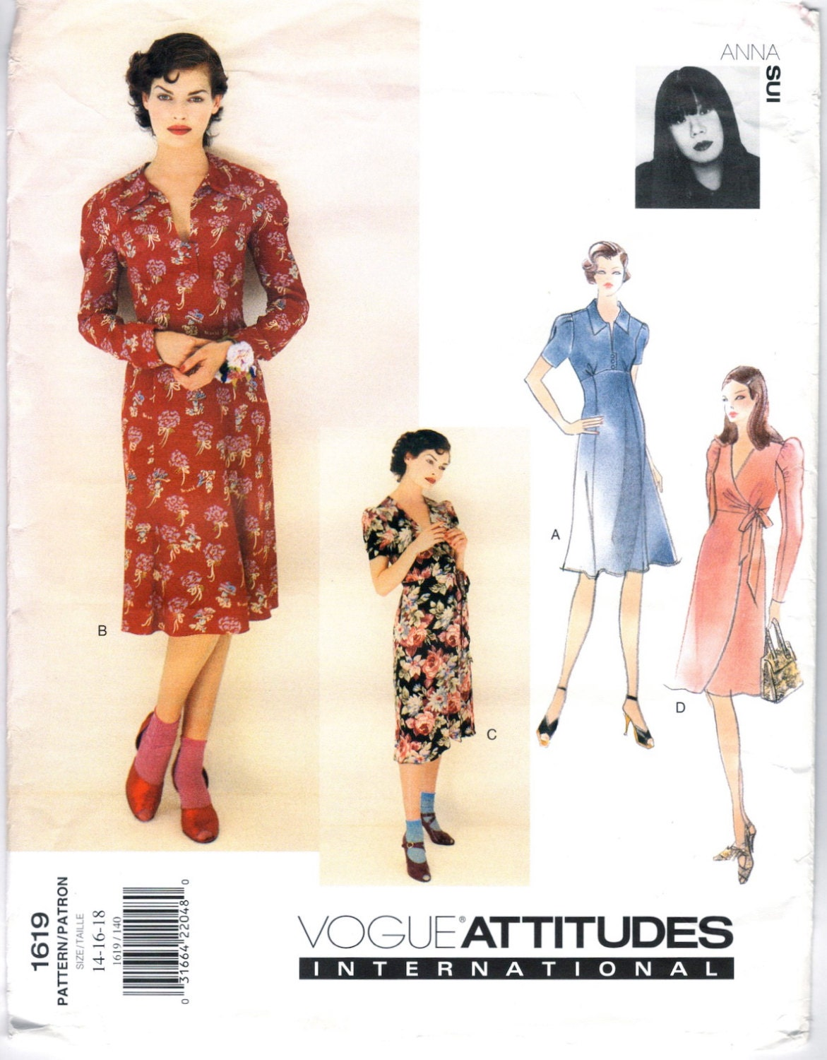 1990s Anna Sui Dress Pattern