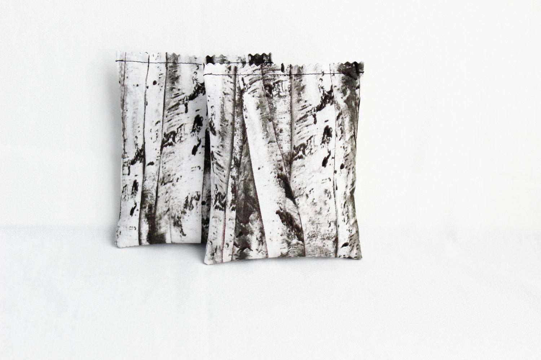 Fragrant Botanical Sachets Birch Tree Forest Grey and White Modern Woodland - Gardenmis
