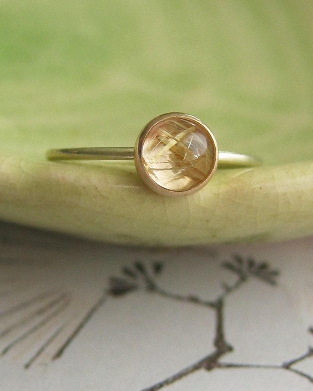 Rutilated Quartz Ring By Kate Szabone