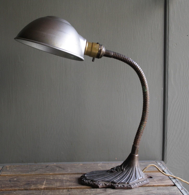 antique gooseneck desk lamp
