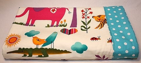 SALE HALF PRICE Baby Blanket - Zoo