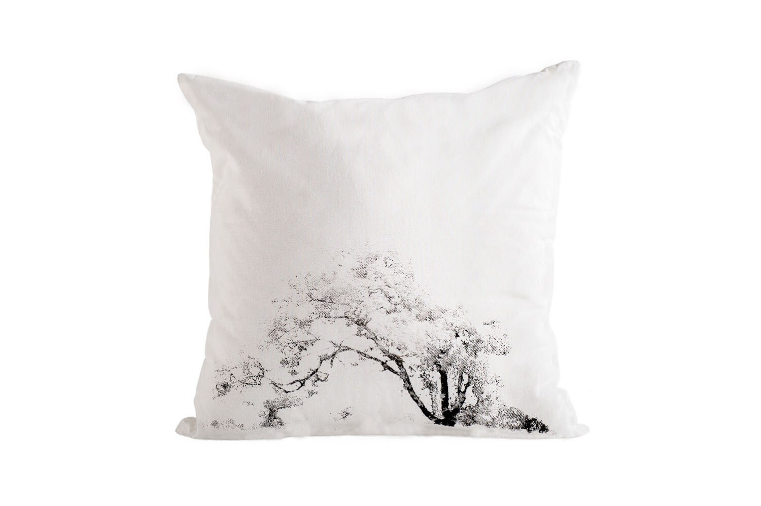 Tree Cushion cover, Black and White Pillow cover, Cotton cushion cover - Hamutelet