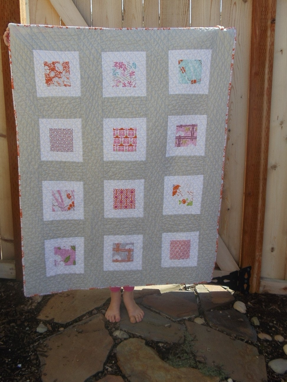 Pink and Orange Dolce Quilt