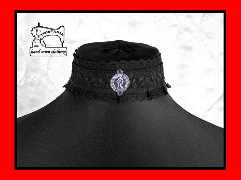 gothic cyber goth queen of darkness choker collar necklace necktie cosplay lolita victorian renaissance steampunk corset japan style  0210