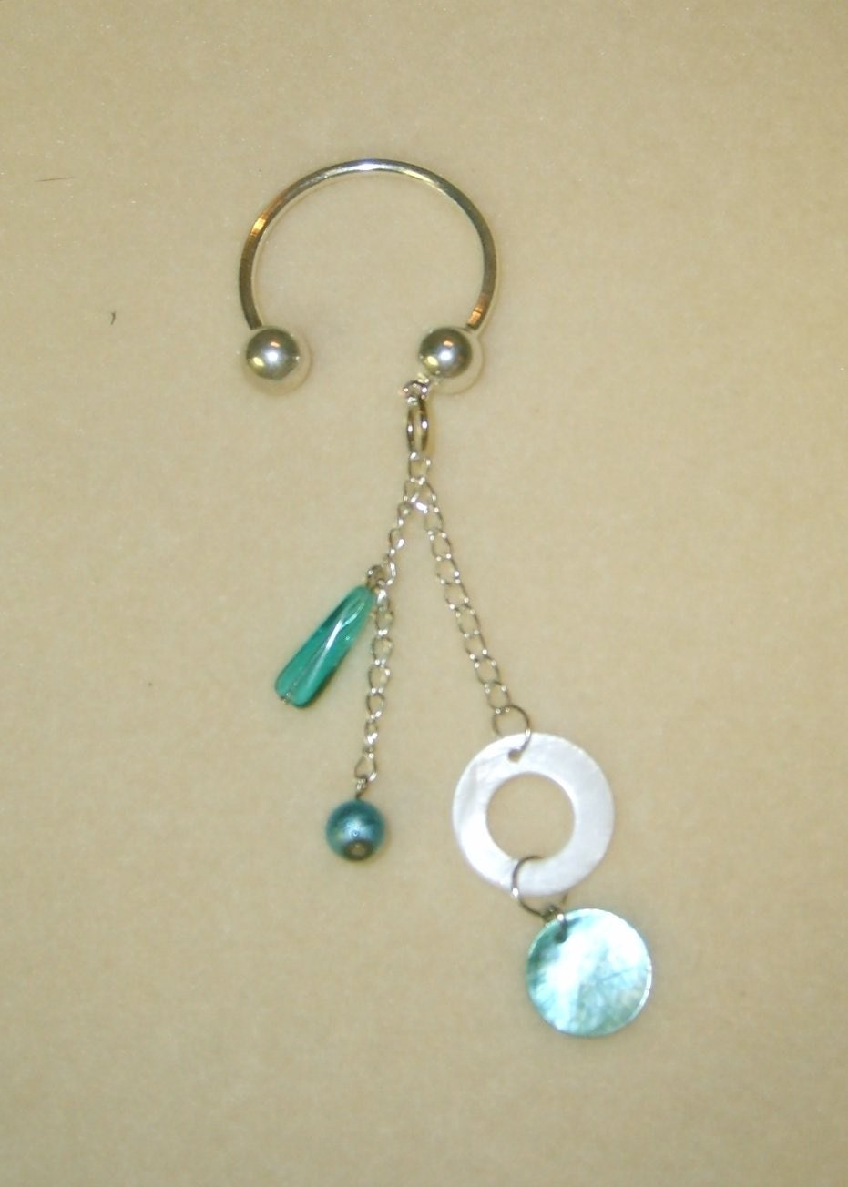 5 7 9 Jewelry, Blue and Silver Keychain, available at Etsy