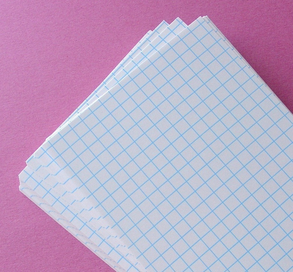 graph grid index cards    4x6 size by schoollocker on etsy