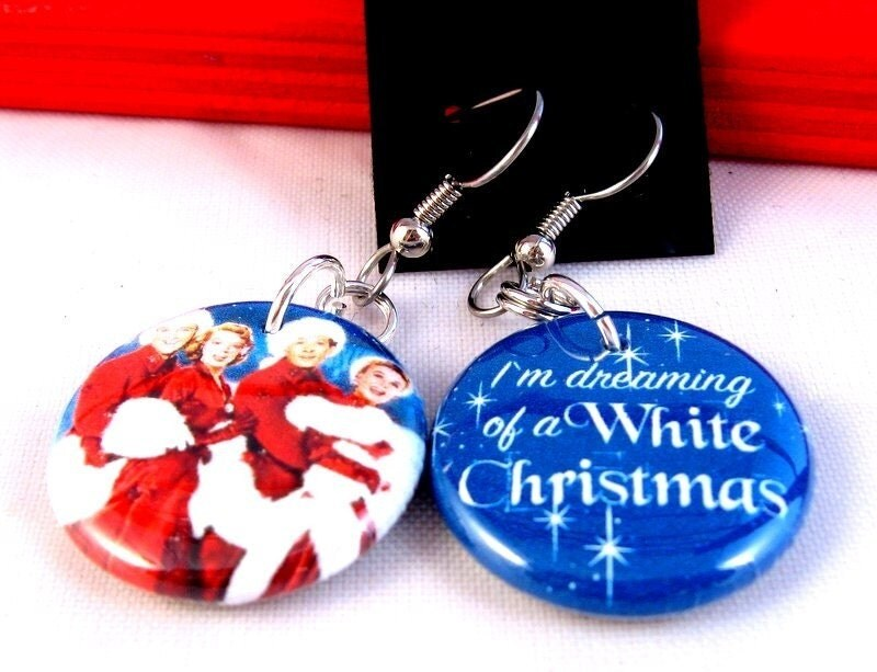 White Christmas Earrings