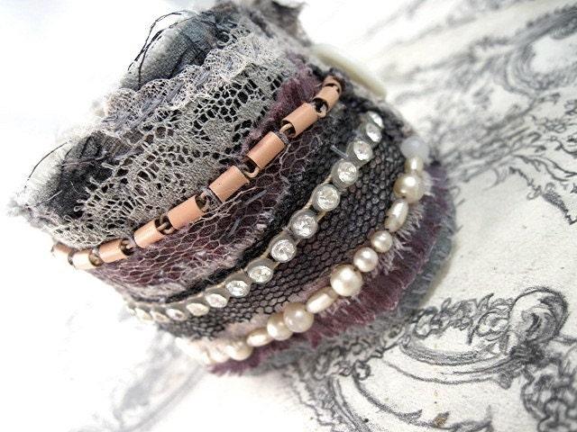 Demiurgic Emanations.  Salvaged Textile Cuff.