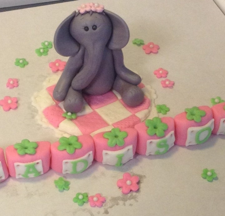 Edible Elephant Cake Decorations : Unavailable Listing on Etsy