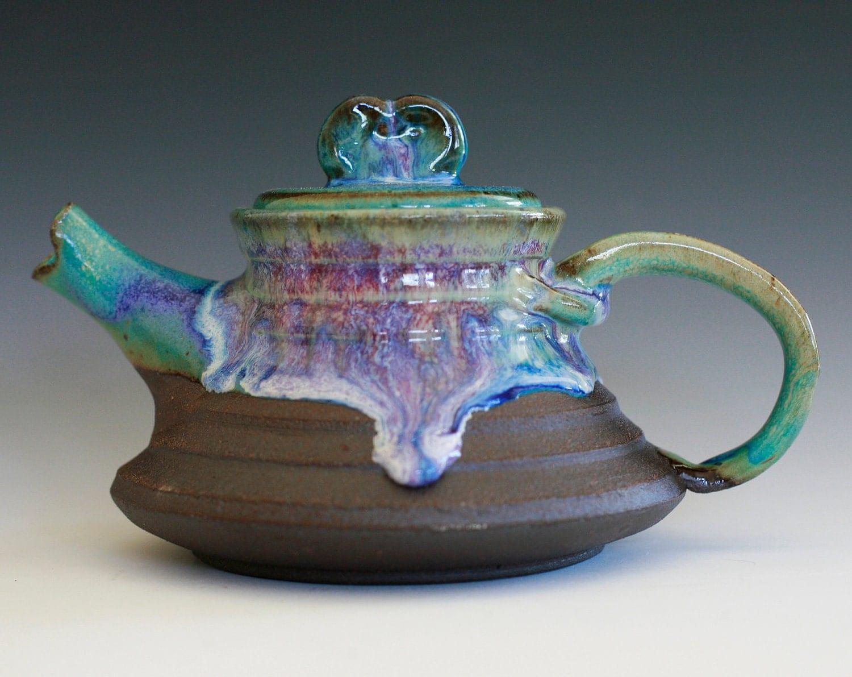Raikou, Lightning Teapot, Handmade Stoneware Teapot - ocpottery