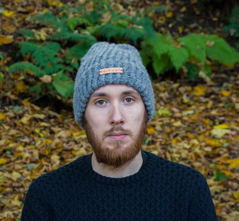 Fernweh UK  CLACH Hand Knit Unisex Merino Alpaca Hat Knitted Beanie Hand knit hat winter hat Scottish knit grey hat