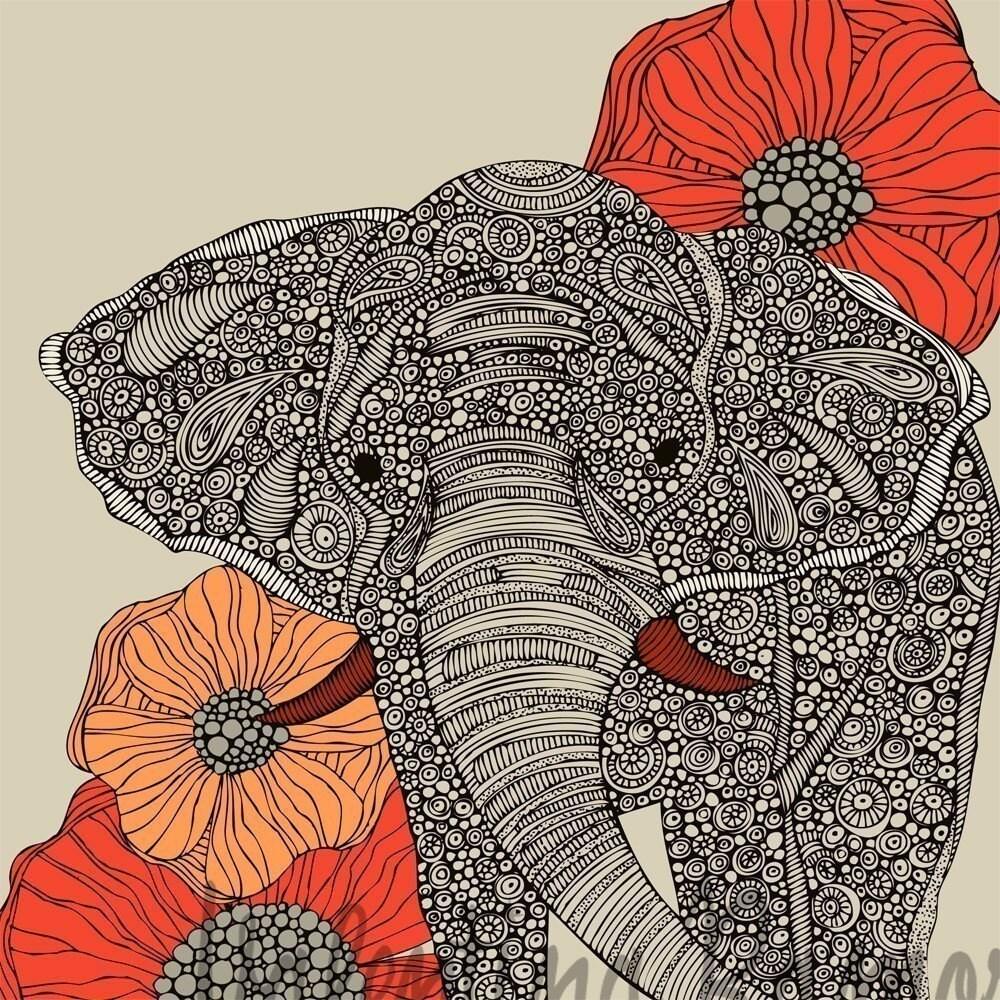 The Good Luck Elephant print