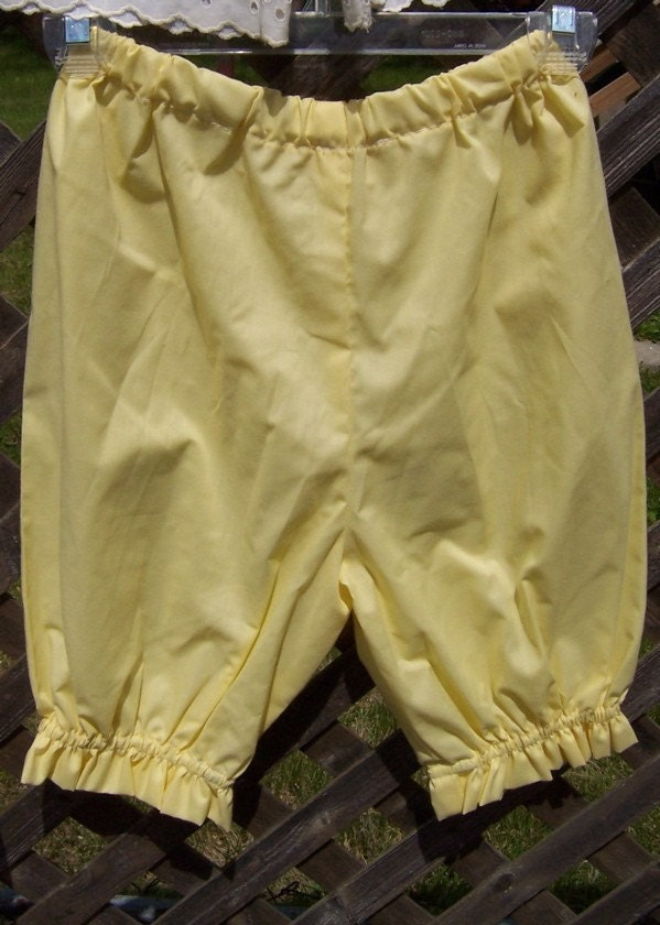 Yellow Ruffled Bloomers - Youth Size