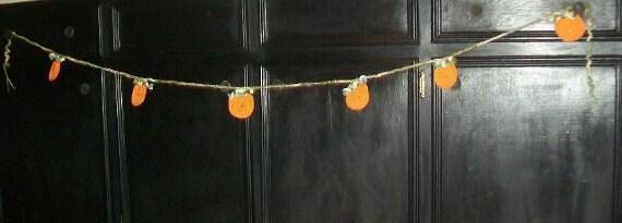 Crocheted Fall Pumpkin Banner--