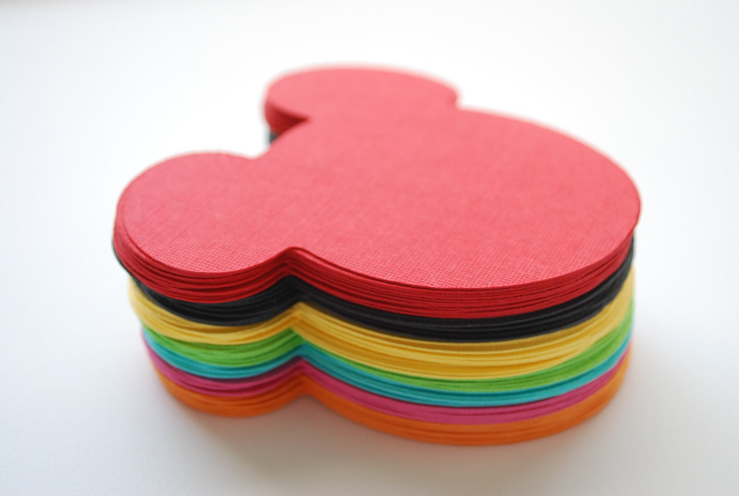21 Mickey Mouse die cut (4 x3.75 inches) in Rainbow colors (7 Colors) ,CIJ - christmas in july