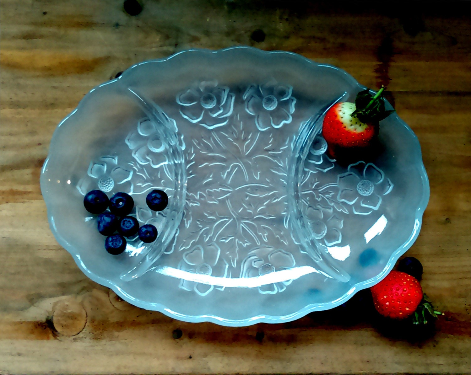 Bagley glass snack tray a decorative tray to be used as a serving tray or vanity tray glass snack set glass vanity tray divided tray.