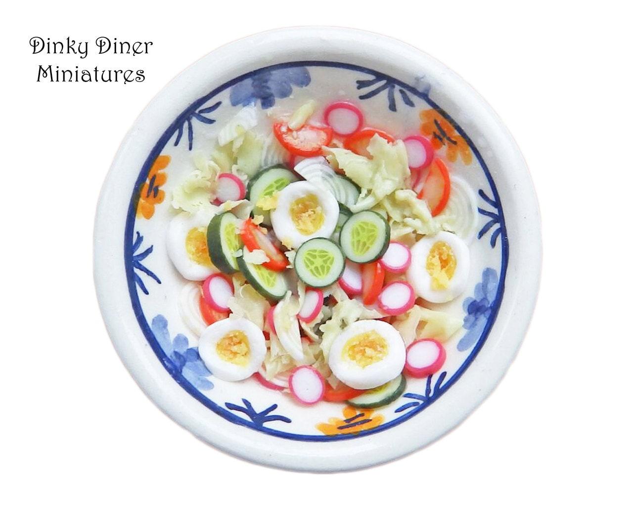 Bowl of Egg Salad (Summer Picnic 2016 range)  Miniature 112 Scale Food