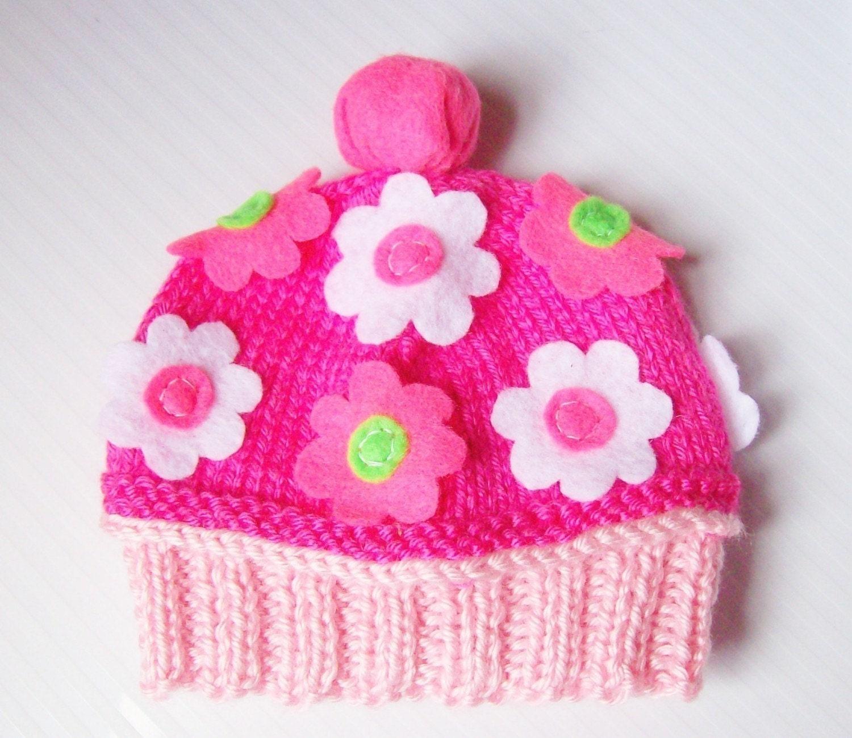 SPRING FLOWER DREAM CUPCAKE HAT NEWBORN- MADE TO ORDER