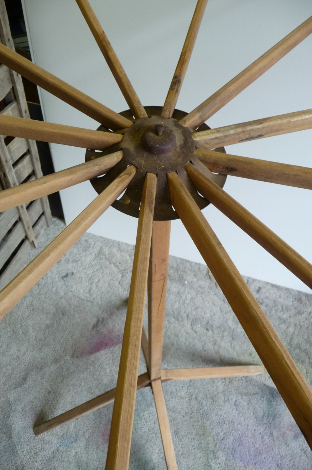 Old Clothes Dryer ~ Antique drying rack fold out clothes standing by salvagerelics