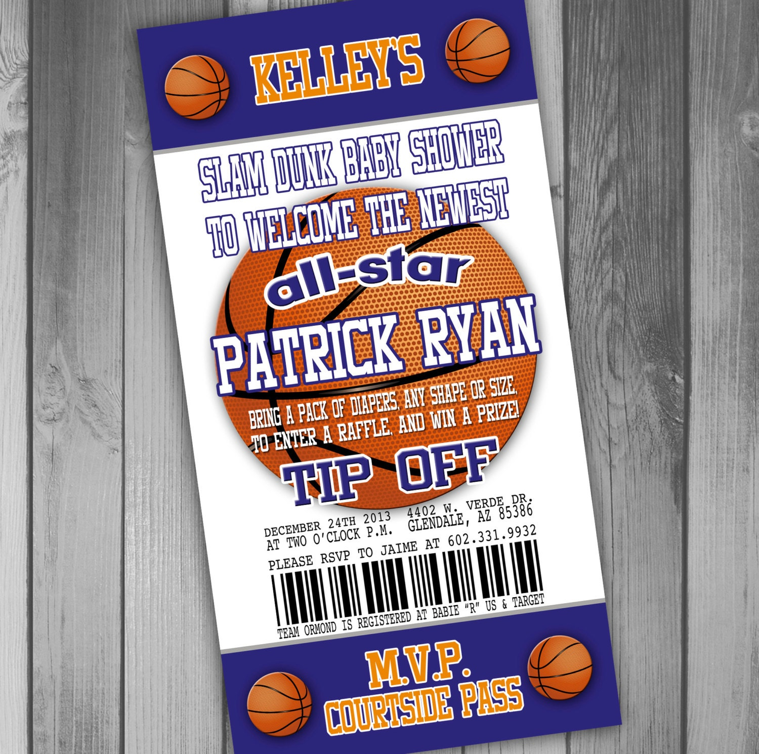 basketball baby shower invitation coed baby shower couples baby shower