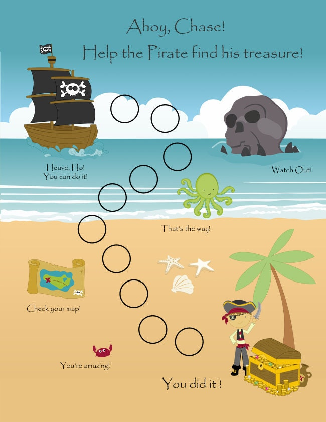 PRINTABLE Personalized Child Behavior Reward by TagAlongAdventure