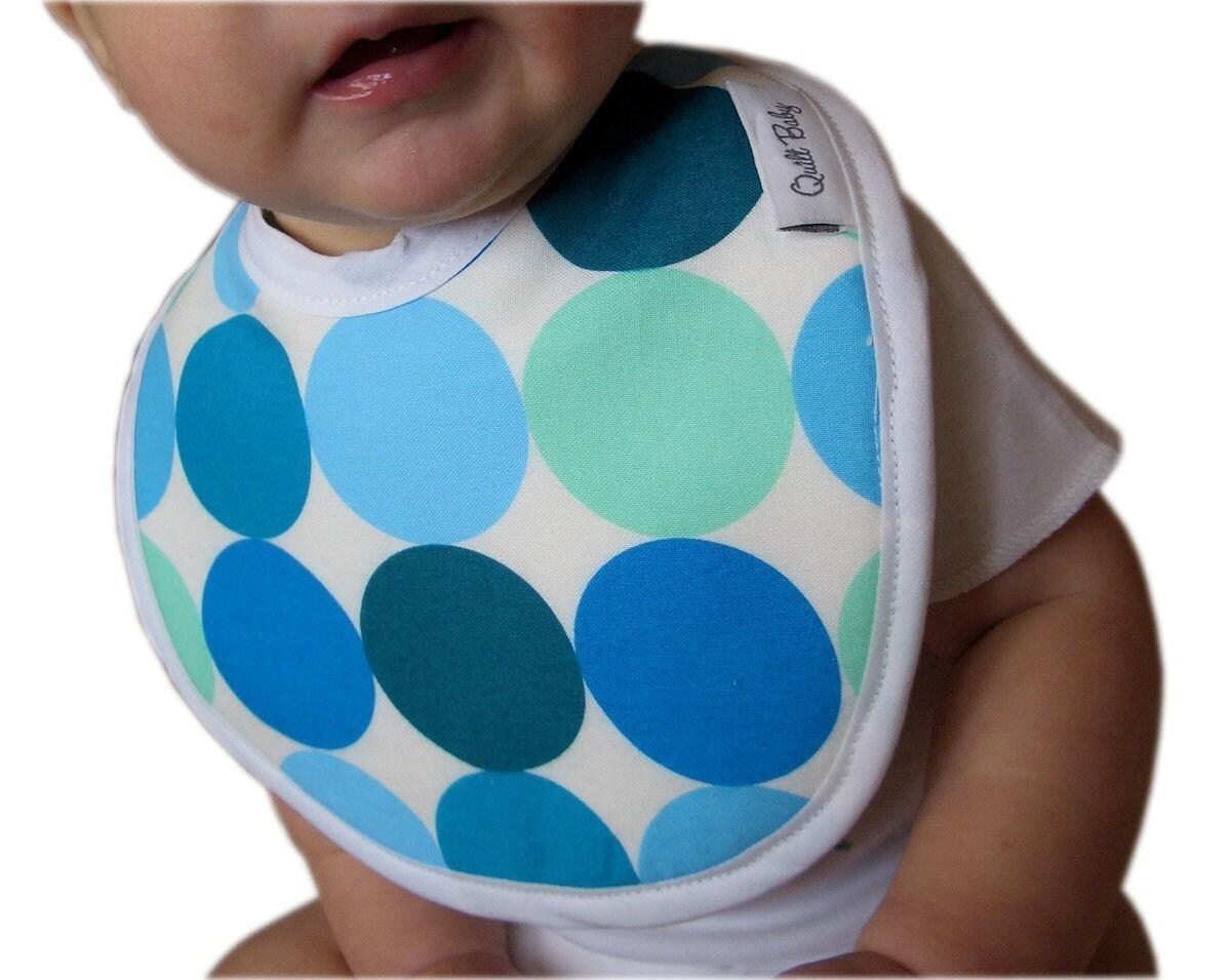 Blue Polka Dots Bib